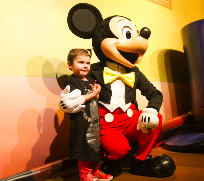 Dream of meeting Mickey comes true